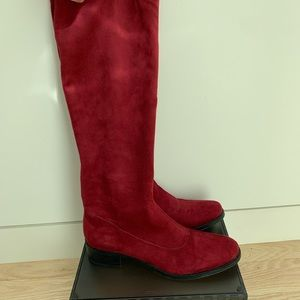 Tall Red, Cabernet Suede Bussola Siena Boots- 39/9